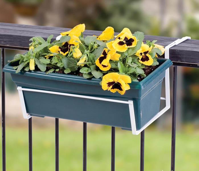 Flower Box Holders trough planter bracket deck