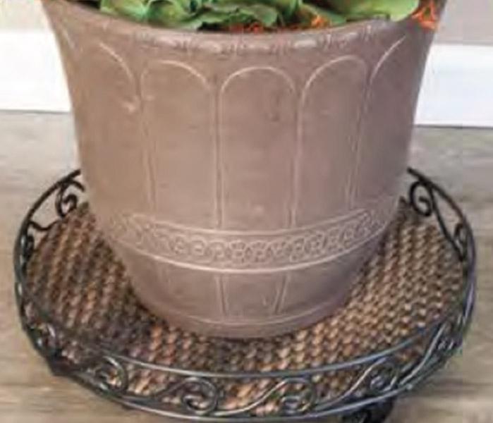 Heavy Duty Plant Caddy metal Pot trivet