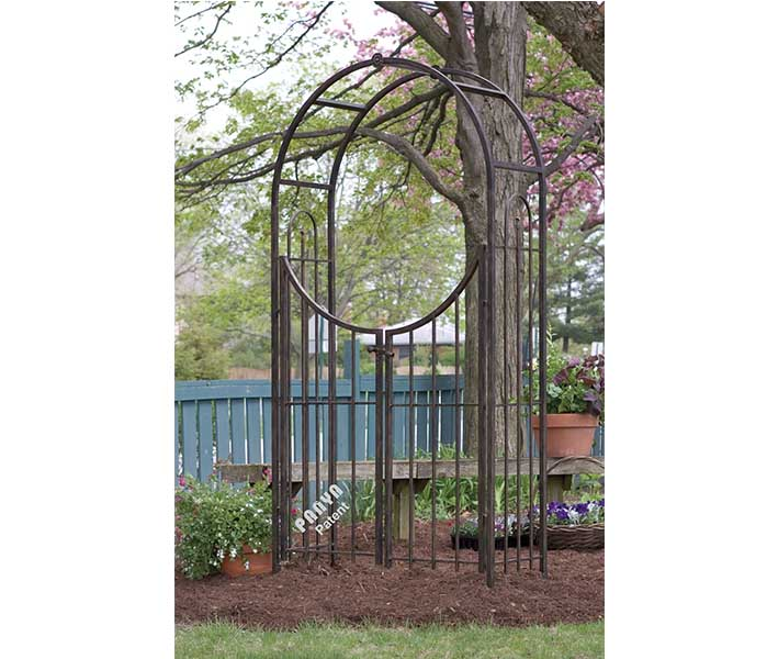Arched Top Garden Arbor with Gate