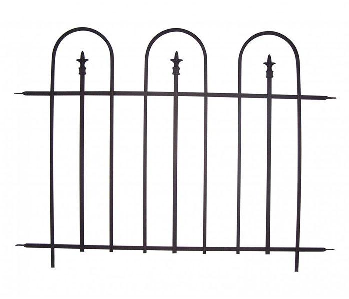 Basic Arch Sectional Garden Fence Galvanized