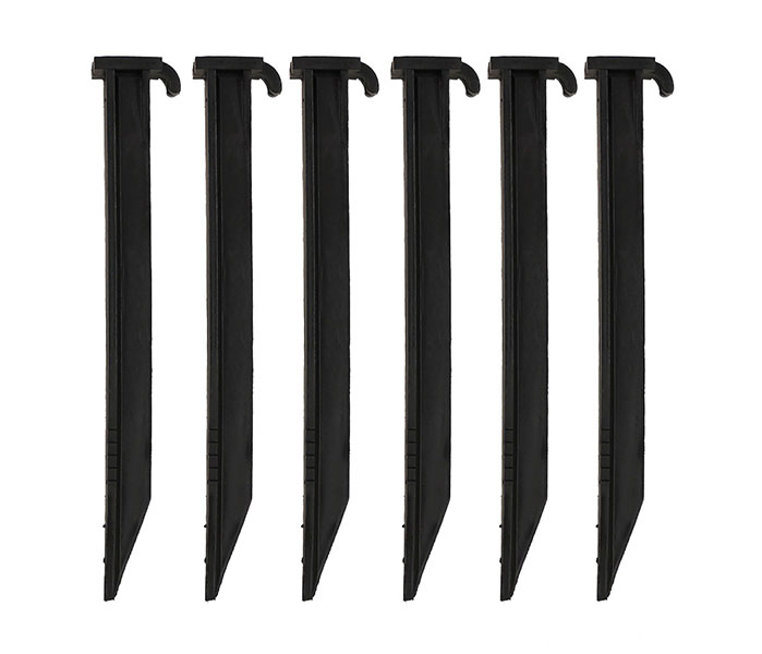 Tree Stake Support Kit Black Plastic Stake