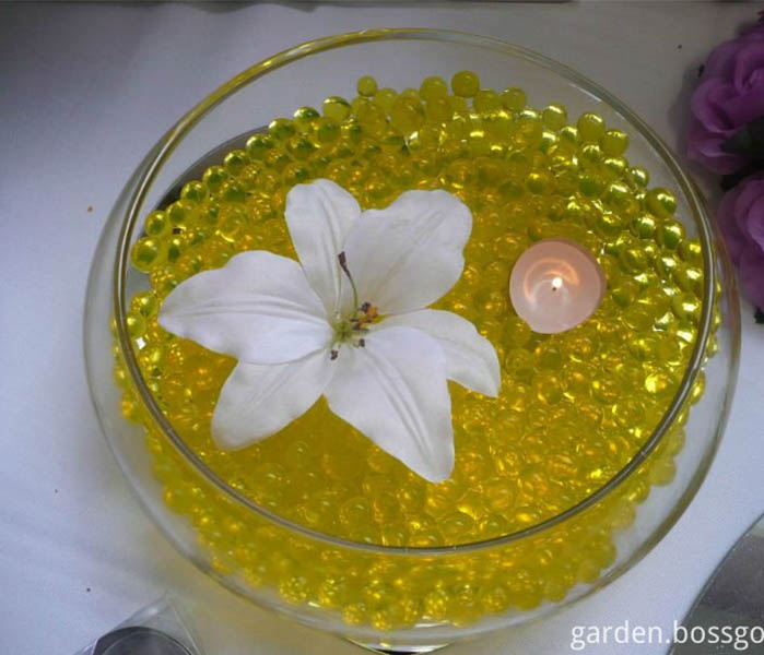 Colourful Crystal Soil Water Beads Vase Decoration