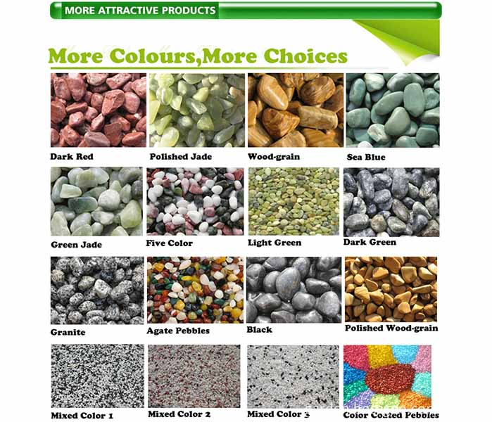 Decorative Landscaping Mini Stones Colorful Rocks