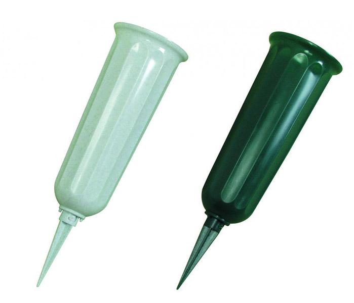 Plastic cemetery vases Metal cone vases water tube